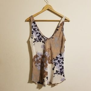 T Babaton Floral Silk Top